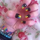 Gay pride nails