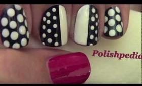 Chic Polka Dot Nails: Blogger Monday