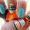 Cute Aztec nails