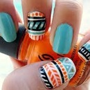 Cute Aztec nails