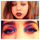 Rave themed eye makeup
