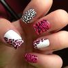 Pink & white leopard