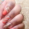 Orane & Gray Nails