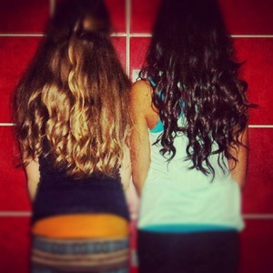 Last year when Charid H. and I curled our hair!! Hope you like it :)
