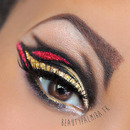 Gold and red Glitter