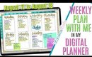 BUJO STYLE: Setting Up Weekly Digital Plan With Me August 11 to August 17 PLAN WITH ME