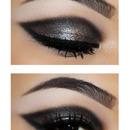 Glitter cat-eye