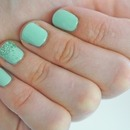 Green and craft glitter