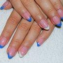 Blue french mani