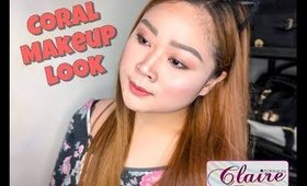 EASY EVERYDAY CORAL MAKEUP LOOK | CLAIRE LINGAN (PHILIPPINES)
