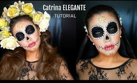 CATRINA con PERLAS y ROSAS / Sugar Skull in pearls & roses | auroramakeup