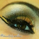 Dramatic Gold Look.