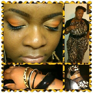 Leopard Jumper-Rainbow Shops  Belt-Rainbow Shops  Bangles-Torrid  Shoes-Wild Rose  *Makeup used was Urban Decay Naked Palette and Coastal Scents Creative Me #1 Palette