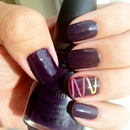 Plum and laser accents