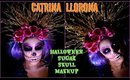 Catrina LLORONA maquillaje/ HALLOWEN Sugar Skull makeup| auroramakeup