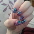 Animal print patchwork nails
