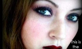 Red Vampire Makeup