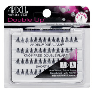Double Up Individuals Knot-Free Lashes Short Black