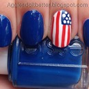flag nails for July 4!