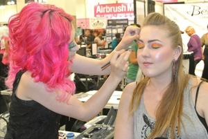 Me doing what I do best on a client! xo