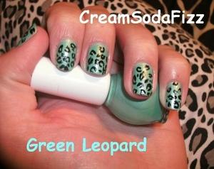 Green Leopard Print