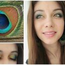 Peacock Inspired Makeup