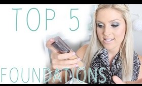 Top 5 ♡ Foundations! Shaaanxo Favorites