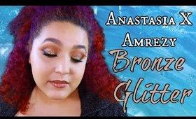 Anastasia Amrezy Palette Bronze Glitter Eye Makeup Tutorial (NoBlandMakeup)