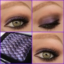 Look with new purple eyeshadow by catrice
