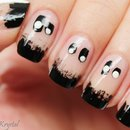Glowing Ghosts nail art