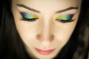 Created using the Urban Decay Electric palette