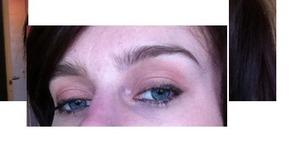 Light make up to make blue eyes pop - not the best photo!