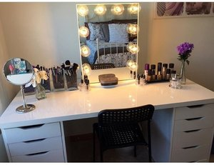Mirror >> Impressions Vanity Table top and 'Alex' drawers >> IKEA