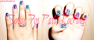 Party Rocking nails all products by OPI