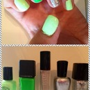 Neon Green Chevron inspired