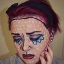 Crying Comic Book/Pop Art Makeup