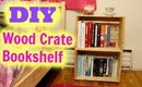 Wooden Crate Bookshelf DIY Project