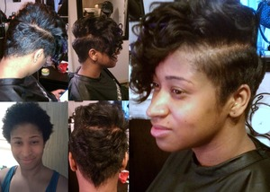 relaxed, cut and styled