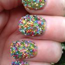 Multicolour Caviar Nails