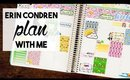 Erin Condren Hourly Plan with Me | April Showers