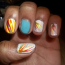 Rainbow Nails_Blue Accent