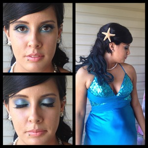Makeup I did on a client for prom