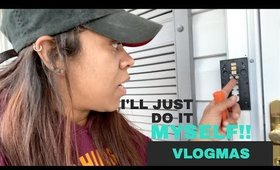 I'll just do it myself | Installing RING Doorbell | VLOGMAS