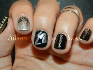 Edgy nail art inspired by Metallica.