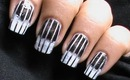 Reciprocal Gradient Black White Nail Art Designs Ombre Nail Art Long/Short Nails Tutorial Sponge