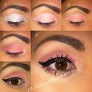 Peachy Coral Spring Eye Makeup