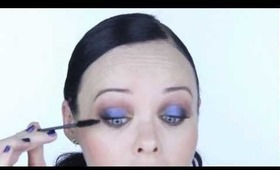 Jeremy Scott Inspired Blue-Brown Smokey Eye Make Up Tutorial