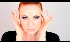 Blue & Copper Dramatic Eye Makeup