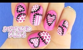 Cute Stitched Nails!