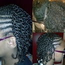 braids with two hand twist on natural kids hair